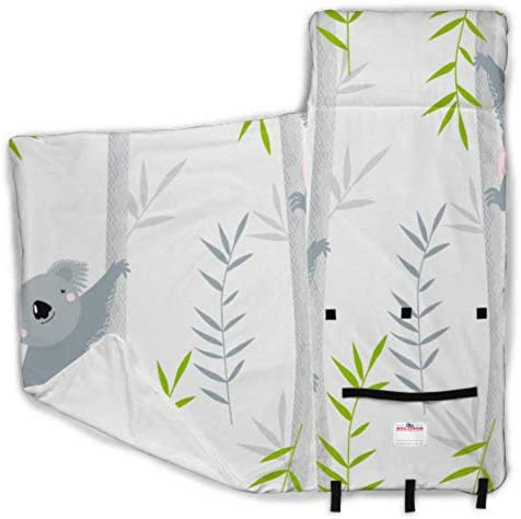 Cute Grey Cartoon Lazy Koala Kid Nap Mats Nap Mat With Pillow And Blanket With Blanket And Pillow Rollup Design Great For Preschool Daycare Sleepovers 50