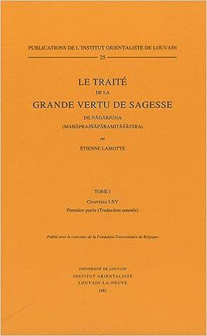 Lamotte Traité de la Grande Vertu de Sagesse cover art