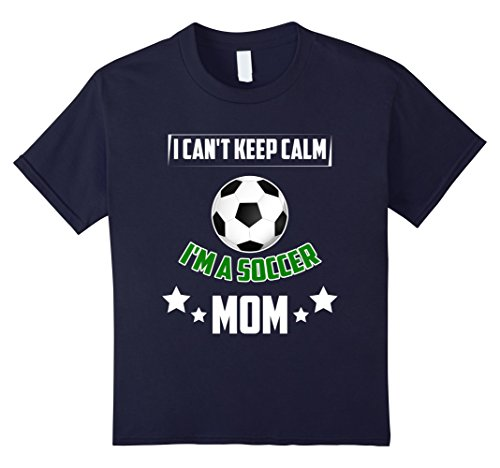 Soccer Player Girl Costume (Kids Great Gift From Soccer Player. Christmas Shirt For Mother. 4 Navy)