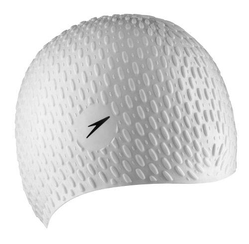 Speedo Silicone 'Bubble' Swim Cap, White, One Size
