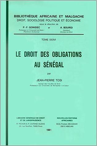 Read Online Le droit des obligations au Sénégal pdf
