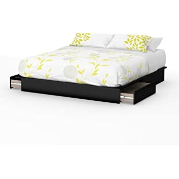 Amazon Com South Shore Step One Platform Bed With Drawers