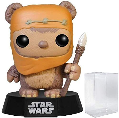 Funko Pop! Star Wars: Ewok Wicket Vinyl Bobble-Head Figure (Bundled with Pop Box Protector Case)