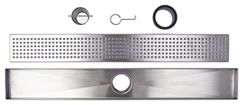 - Linear Shower Drain Grate, Square Hole Pattern, 60-inch, 304-Grade Stainless Steel (18 Gauge), ICC-ES Certified (UPC)