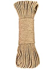 Hemp Rope for Cat Tree and Tower, DIY Cat Scratcher Sisal Rope for Cat Scratching Post Tree Replacement, Playing Flexible Scratching Pad