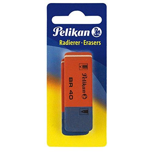 Pelikan BR40/2/B Radierer aus Kautschuk Verpackung, 2 Stück