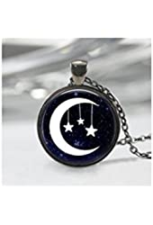 Moon and Star Pendant, Moon and Star Pendant, Moon Charm,star and Moon Necklace