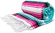 Mexican Blanket, Premium Yoga Blanket | Authentic Hand Woven Falsa Blanket | Made by Mexican Artisans, Thick &