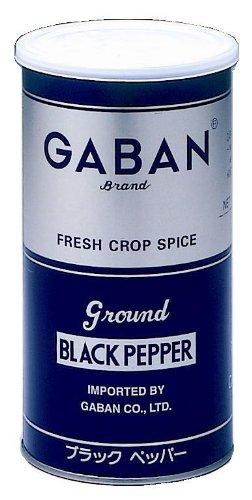 ギャバン ブラックペッパーグラウンド 420g 丸缶