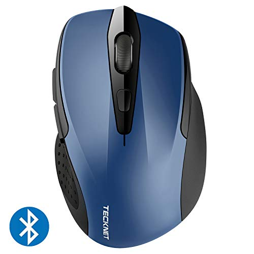 TeckNet 2600DPI Bluetooth Wireless Mouse, 24 Months Battery Life Battery Indicator, 2600/2000/1600/1200/800DPI
