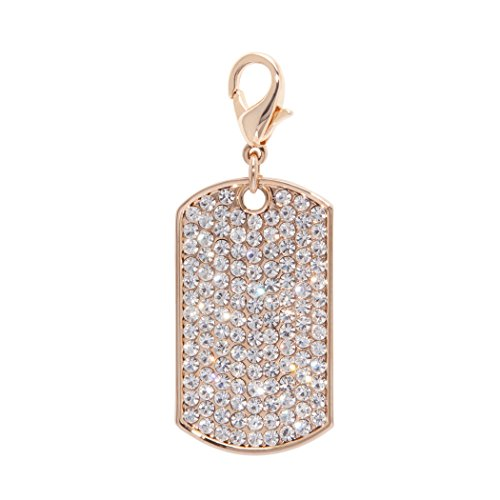 LAZYBONEZZ, The Pet Charm Accessory, Gold Bling Dog Tag