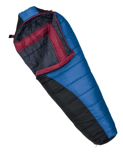 Wenzel Omega II/Great Falls Mummy 0-Degree Sleeping Bag with Hood (Blue, Black Charcoal, Berry), Outdoor Stuffs