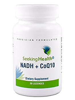 NADH + CoQ10 | 25 mg NADH + 50 mg CoQ10 in a Great Tasting, Easy-To-Deliver Lozenge | 30 Lozenges | Non-GMO | Free of Magnesium Stearate | Physician Formulated | Seeking Health