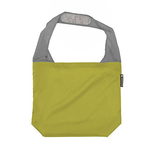 FLIP AND TUMBLE – Premium Reusable Grocery Bag - perfect Shopping Bag, Beach Bag, Travel Bag, - Green Shopping Bowling