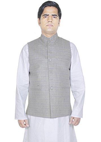 Herren Wollfleece Mantel Wolljacken für Männer indian braunen Mantel