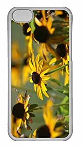 iPhone 5C Case, Personalized Custom Yellow Flower 18 for iPhone 5C PC Clear Case by mcsharks