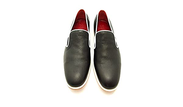 Sir Men's Leather Dress Shoes - Cain Grey Slip-on Leather Loafers