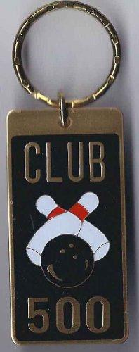 Brass Enamel Keychain Bowling 500 Series