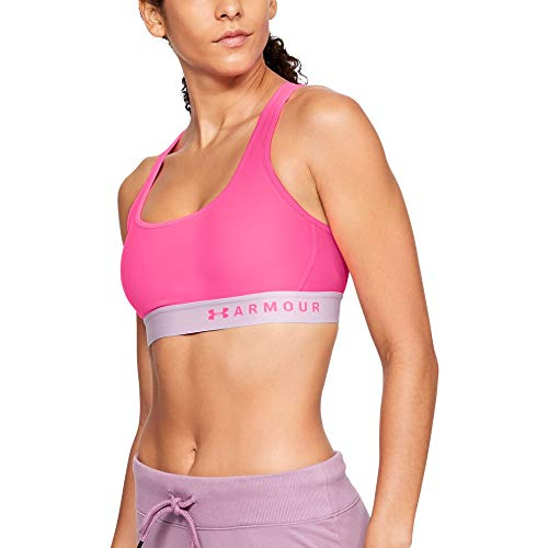 - Under Armour Women's Armour Mid Crossback Sports Bra, Mojo Pink (641)/Mojo Pink, Medium