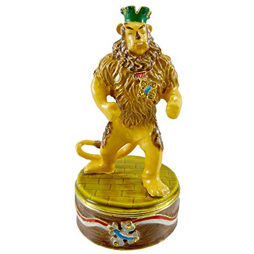 Wizard Of Oz Jeweled Boxes - Wizard Of Oz Dept. 56 Cowardly Lion Jeweled Box