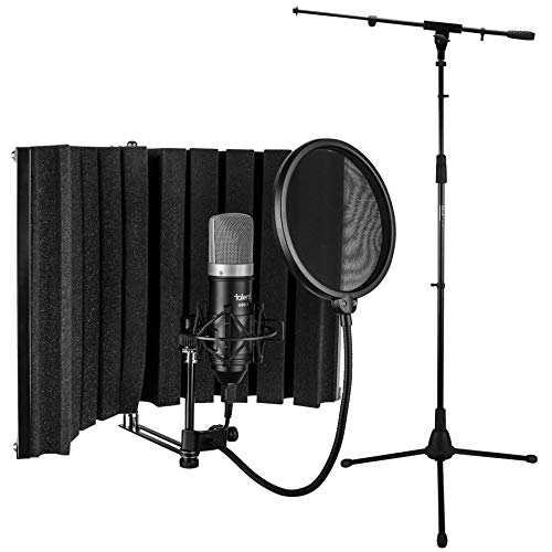 Talent All-in-One USB Recording Bundle - Vocal Booth - USB Mic - Shock Mount - Pop Filter - Mic Stand ()