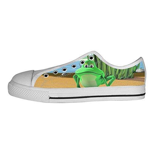 Tela I Delle Di Da Scarpe In Canvas Divertente Sopra Custom Alto Shoes Lacci Ginnastica Le Men's Rana 4wSTXxqa