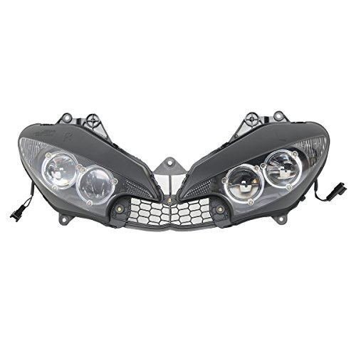 (XMT-MOTO Clear Headlight Front Light Lamp Assembly For Yamaha YZF R6 2003-2005,Yamaha YZF R6S)
