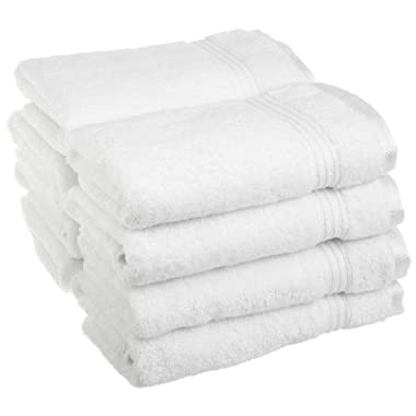 Superior Collection 100% Premium Long-Staple Combed Cotton 8-Piece Hand Towel Set, White