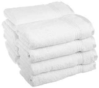 Superior 100% Long Staple Combed Cotton 8 Piece Hand Towel Set, White (B005TOW9H4) | Amazon price tracker / tracking, Amazon price history charts, Amazon price watches, Amazon price drop alerts