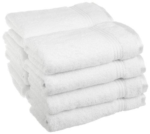 Superior 100% Long Staple Combed Cotton 8 Piece Hand Towel Set, White