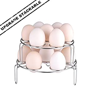 Upgraded Version Steamer Rack, Moveland Stackable Egg Vegetable Steaming Trivet for Instant Pot Pressure Cooker