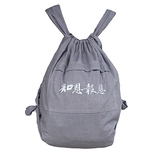 - ZooBoo Unisex Buddhist Bag Monk Backpack - Shaolin Temple Embroidery Kung Fu Bag - Cotton and Canvas