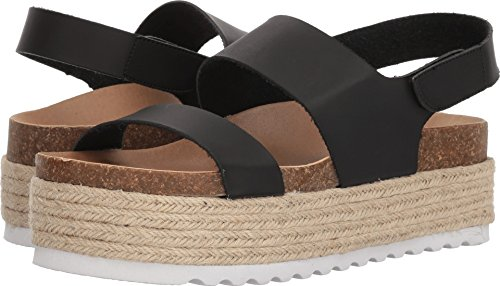 Dirty Laundry by Chinese Laundry Women's Peyton Espadrille Wedge Sandal, Black Smooth, 6 M US
