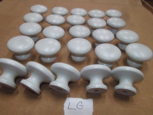 Twenty-Five (25) Weathered Maple Finished KNOBS Various Colors 1 1/8'' X 1 1/2'' (Light Gray LG) …