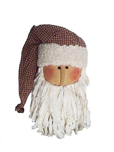 Papier Mache Bell (Craft Outlet Fabric Santa Head Figurine, 15-Inch)