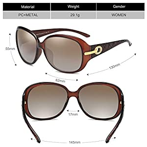 DUCO oversized polarised sunglasses for women ladies sunglasses 100% UV400 Protection 6214