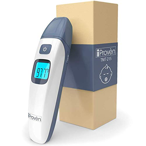 (Best Baby Thermometer Forehead and Ear Thermometer with Infrared Thermometer Function - Digital Infant and Toddler Termometro - with Object Mode - Easy for Newborn - Quick No Touch - iProvèn 2019)