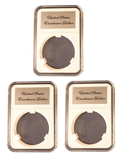 Little Bear Elite Certified-Style Coin Holder for US Peace/Eisenhower Dollar 3 Pak