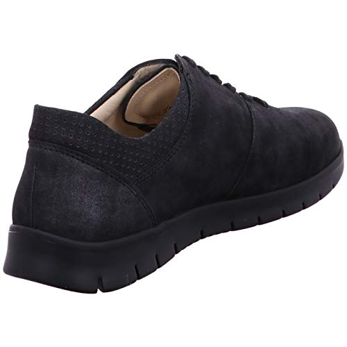 Cordones Negro Para Lisa Comfort De Zapatos Piel Finn Mujer 1qwtzTH
