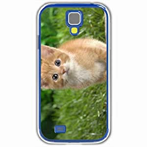 Personalized Samsung Galaxy S4 SIV 9500 Back Cover Diy PC Hard Shell Case Kitten White