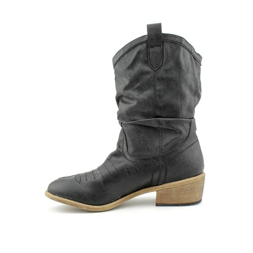 Americana Rag Mujeres Coyote Almond Toe Mid-calf Cowboy Botas Negro
