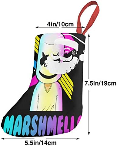 クリスマスの日の靴下 (ソックス3個)クリスマスデコレーションソックス Marshmello クリスマス、ハロウィン 家庭用、ショッピングモール用、お祝いの雰囲気を加える 人気を高める、販売、プロモーション、年次式