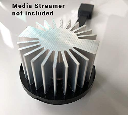 Stream Cooler Round - repair Stuttering and overheating Streaming Media Player. Fits Chromecast 2, 3 and Chromecast Ultra