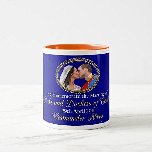Zazzle Royal Wedding the Duke and Duchess Of Cambridge Coffee Mug, Orange Two-Tone Mug 11 oz (Duchess Coffee)