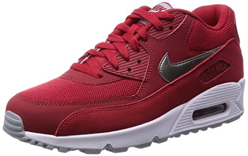 Nike Mens Air Max 90 Essential Red Synthetic Trainers 12 US (Red Nikes Air Shoes For Men)