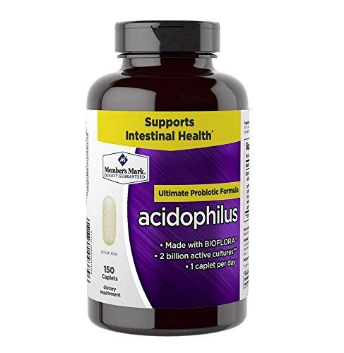 Member's Mark Acidophilus Ultimate Probiotic Formula BIOFLOA (1 Bottle (150 Caplets))