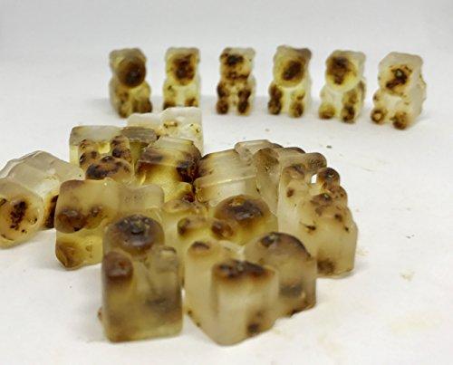 Bath Filler Pop (Set of 18 Green Tea Powder and Rose Petals mini Gummy Bear Soaps - Gummi party favors)