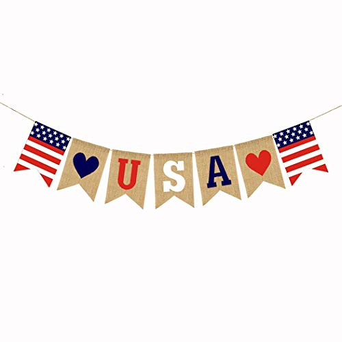 Redpol USA Decorations Celebration Red White Blue Theme Party Supplies Banner Bunting Straws from Redpol