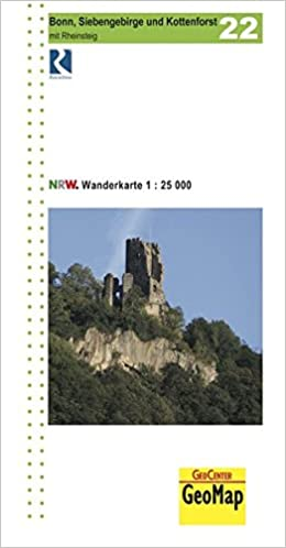 Nordrhein Westfalen Wanderkarte 22 Bonn Siebengebirge Und