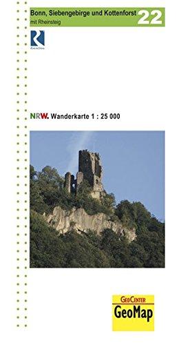 Wanderkarte 1: 25.000 Bonn, Siebengebirge und Kottenforst mit Rheinsteig (Geo Map)